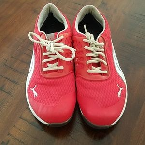 Puma mens sneakers red size 12 man